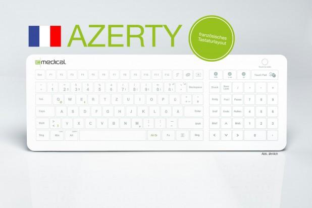 IC Keys - Hygienetastatur Französisch HT200